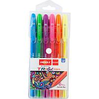 Ручка гелевая Unimax Trigel Neon набор 6цв (UX-143)
