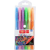 Ручка гелевая Unimax Trigel Pastel 6 цветов 1мм (UX-144)
