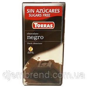 Шоколад черный без глютена и сахара Torras negro 75 г