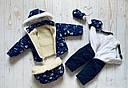 Детский зимний комбинезон 3 в 1 для мальчика, р. 86, фото 3