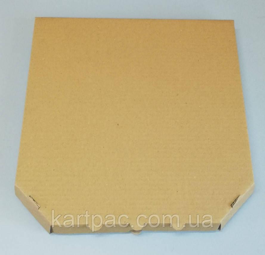 Упаковка під піцу коробка картонна 250х250х30 мм (бура)