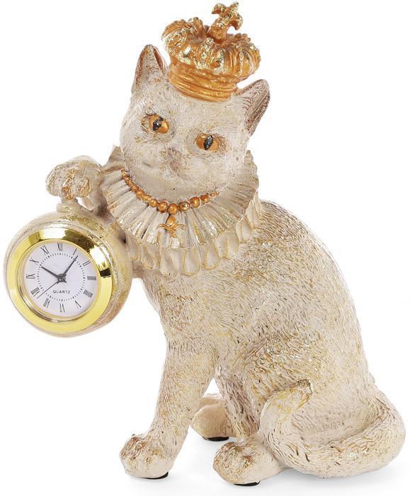 Фигурка декоративная с часами Королевский Кот 15х8х17.5 см (psg_BD-419-142)