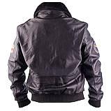 Летная куртка MYTHIC black кожаная, фото 3