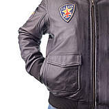 Летная куртка MYTHIC black кожаная, фото 4
