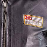 Летная куртка MYTHIC black кожаная, фото 6