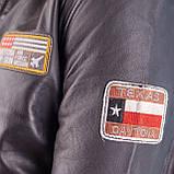 Летная куртка MYTHIC black кожаная, фото 7