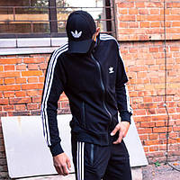 Олимпийка мужская в стиле Adidas Round черная XS