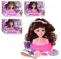 Кукла Голова для причесок 18 см расческа,косметика
