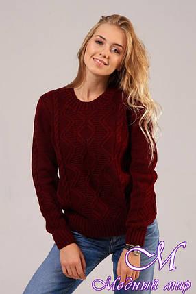 Жіночий в'язаний светр (ун. 44-48) арт. К-13-127, фото 2