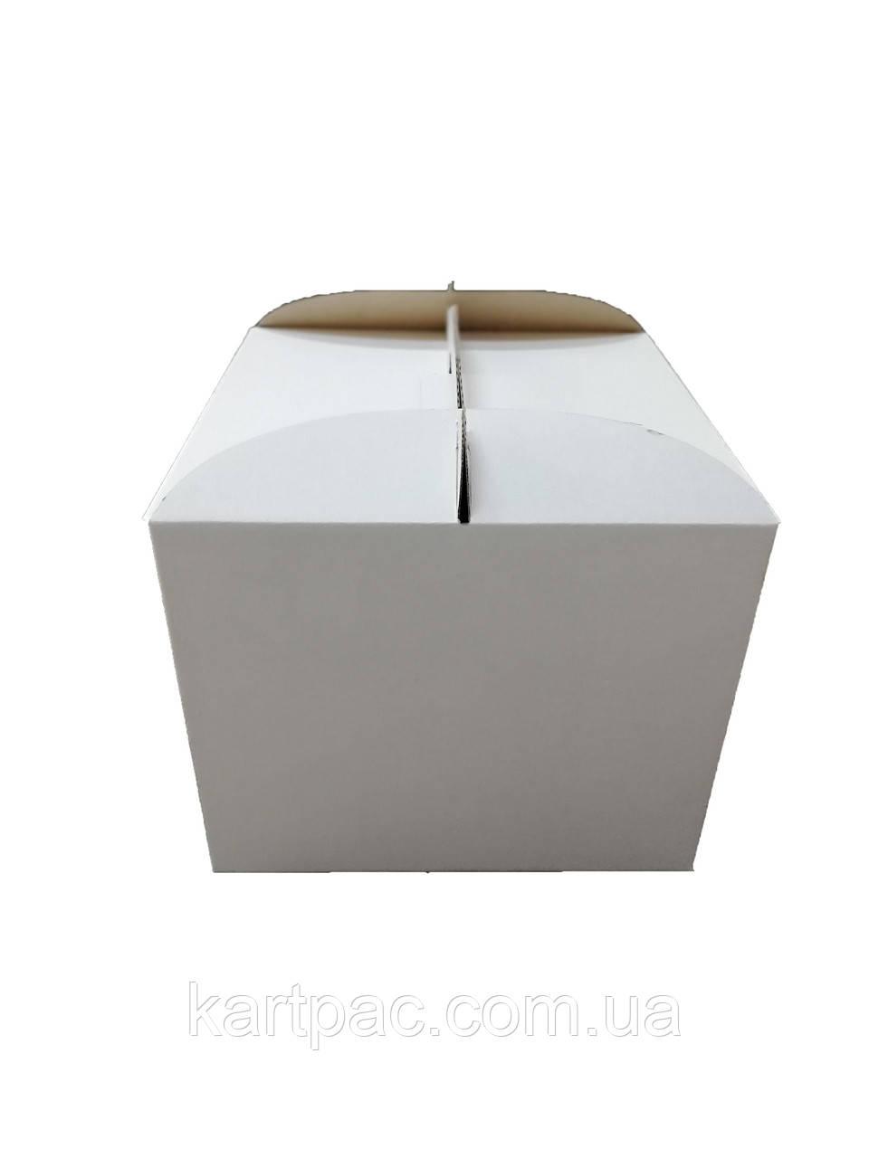 Картонная упаковка для тортов 350х350х200