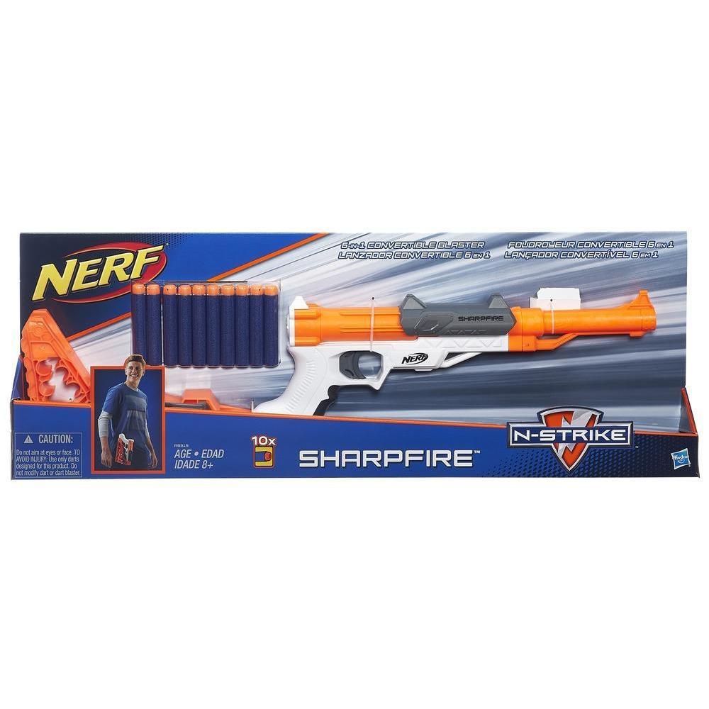 Разборной пистолет-винтовка от Нерф - Sharpfire, N-Strike, Nerf, Hasbro