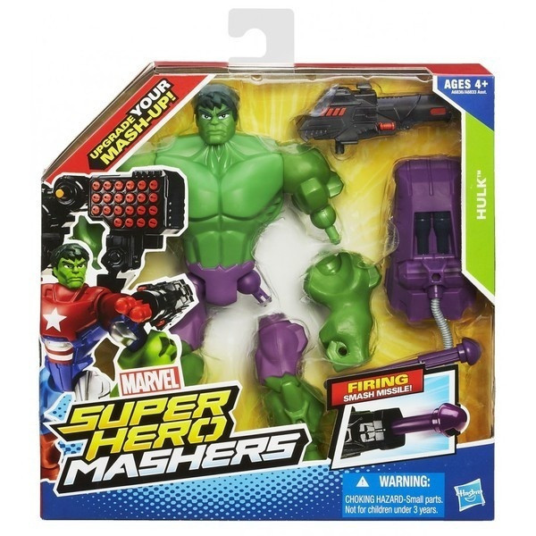 Разборная фигурка супергероя Халк с оружием - Hulk Firing Smash Missile, Mashers, Marvel, Hasbro, фото 1