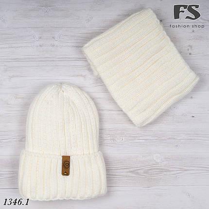 Молочний набір шапка + хомут, фото 2