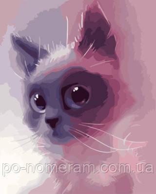 Раскраска для взрослых Сиамский котенок (BRM7999) 40 х 50 ...