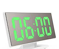 Настольные зеркальные часы UKC DS-3618L с подсветкой White (3618L-W)