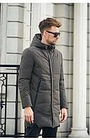 Мужская Дутая зимняя куртка-пальто с капюшоном (синтепон 250, зима)