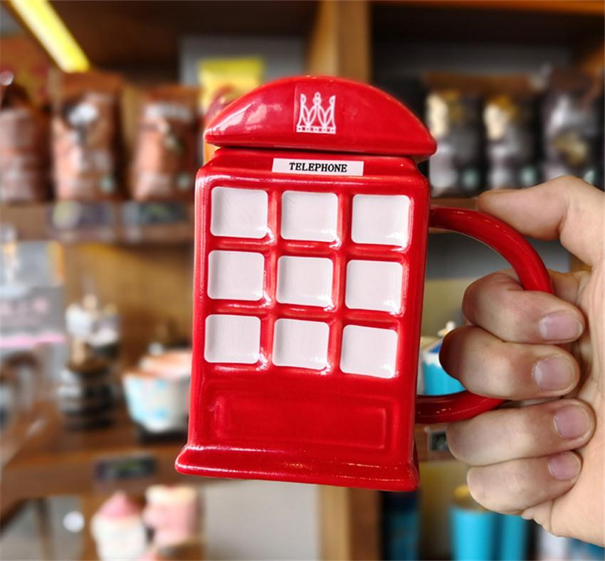 """Чашка """"London"""", Кружка керамическая """"Красная телефонная будка"""""""