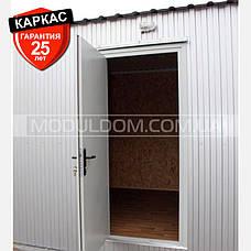 Блокмодуль (6 х 4.8 м.) контейнерного типа, состоящий из 2-х частей, на основе цельно-сварного металлокаркаса., фото 3