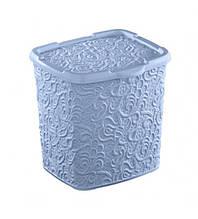 Контейнер для стирального порошка на 6 л Elif plastik Ажур (голубой)