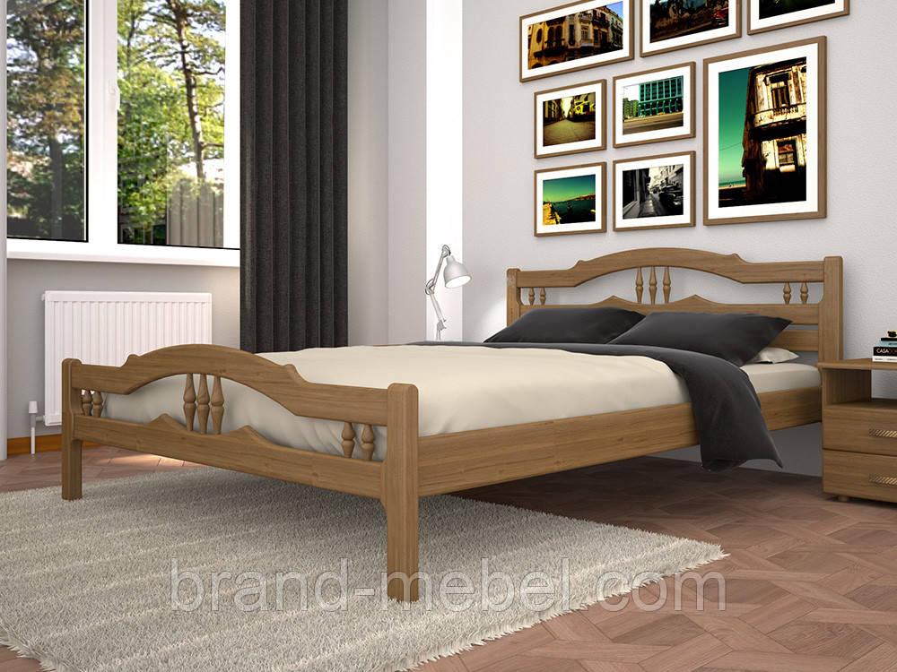 Дерев'яне ліжко двоспальне Юлія 1 / Деревянная кровать двуспальная Юлия 1