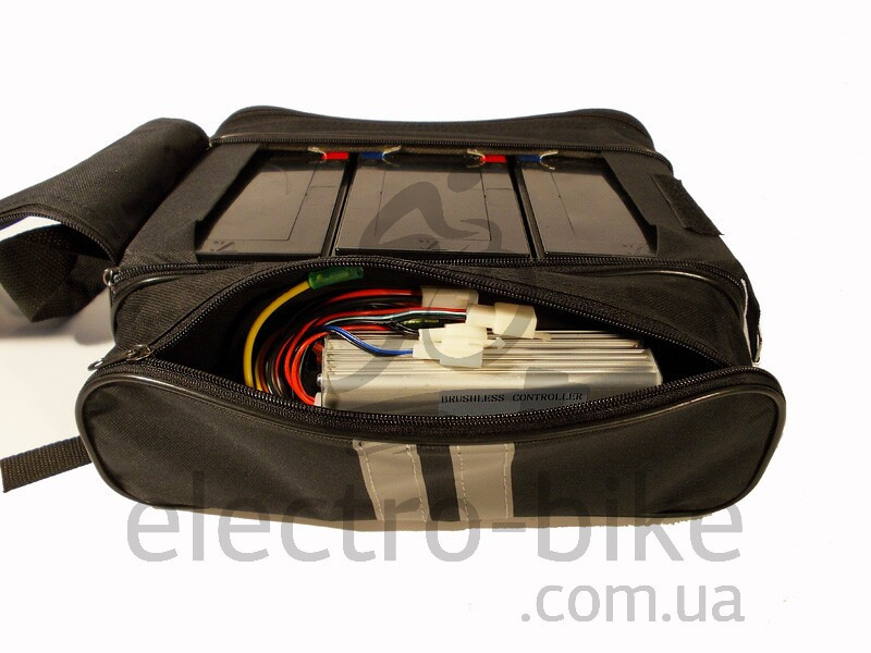 Сумка для 3-х аккумуляторов на багажник электровелосипеда