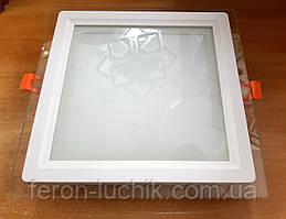Светильник LED 20w 5000К Feron AL2111 светодиодный потолочный встраиваемый со стеклом
