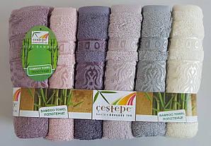 Банные бамбуковые полотенца «Cestepe Damaks» (6 шт)