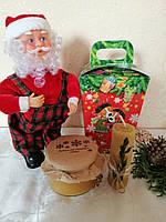 """Новорічний подарунок """"Веселих свят"""" з гречаним медом 280 мл"""