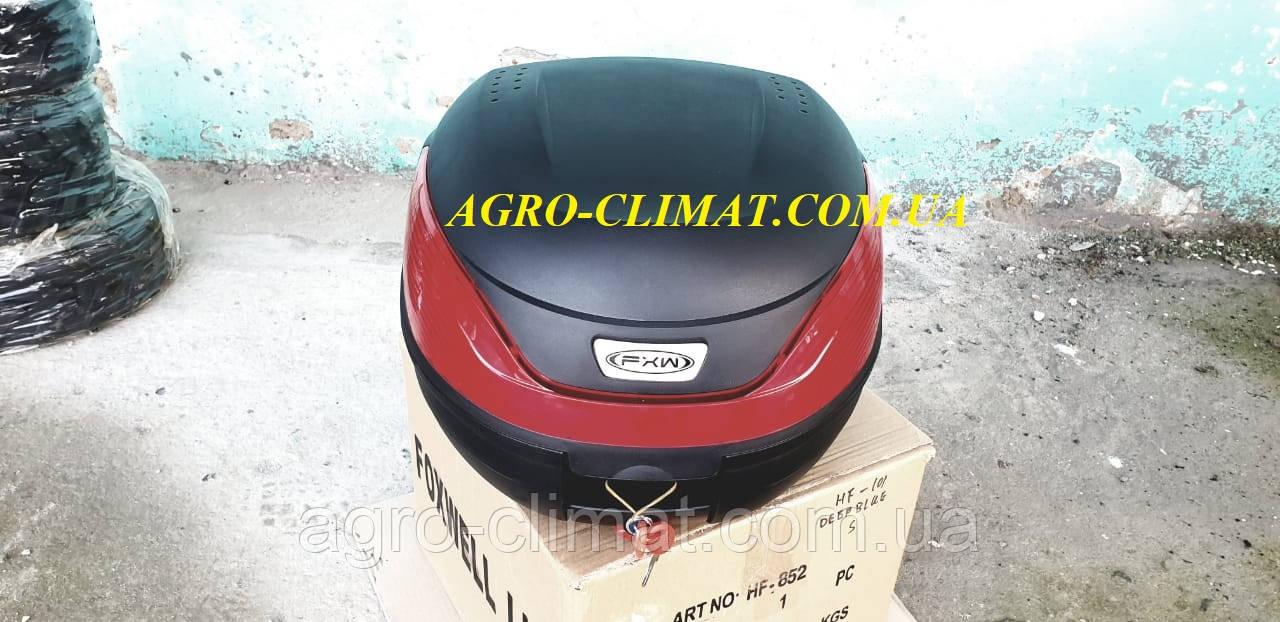 Кофр для мотоцикла (багажник) HF-866 чорний мат (430*410*315 мм)