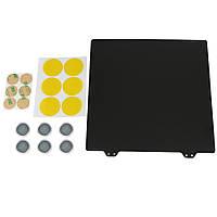Черный 220x220 мм с двойной текстурой PEI из порошковой стали Пластина с 6 магнитными блоками для 3D-принтера-1TopShop