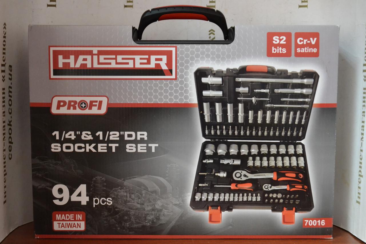 """Професійний набір інструментів Haisser 94 шт 1/2"""", 1/4"""" CrV"""