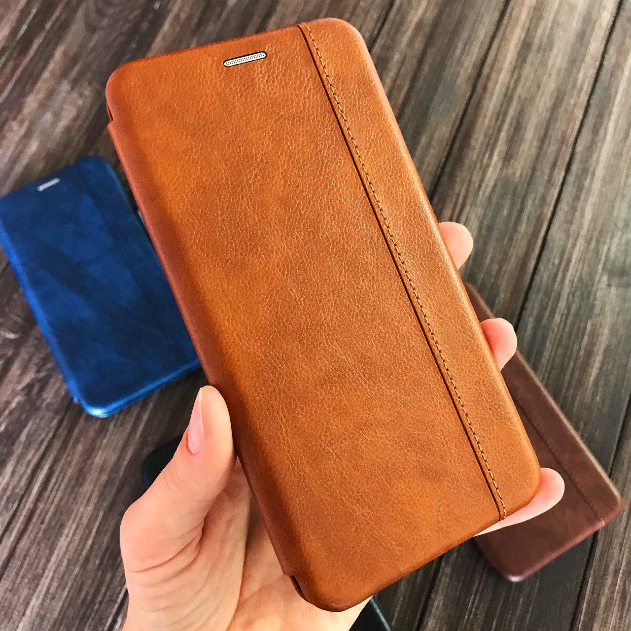 Чехол-книжка Line для Samsung A9 2018 (A920F) коричневая