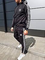 Мужской стильный спортивный костюм с капюшоном adidas оу.