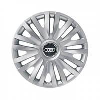 """Колпаки для колес 14"""" c логотипом автомобиля 4 шт (SKS 217) Ауди"""