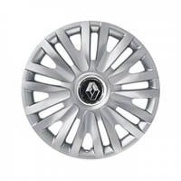 """Колпаки для колес 14"""" c логотипом автомобиля 4 шт (SKS 217) Renault"""
