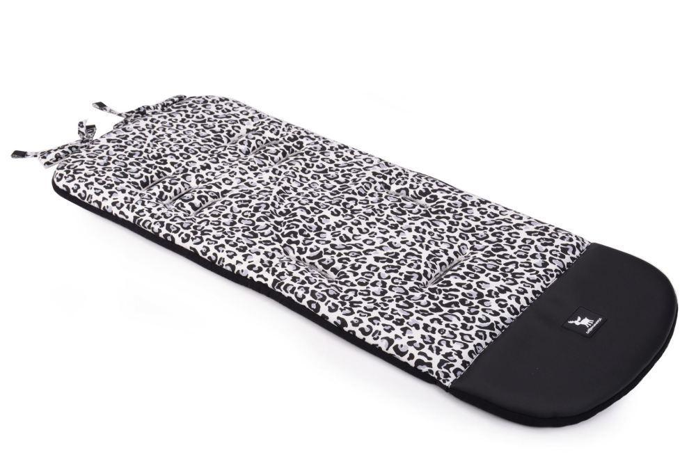 Матрас в коляску Cottonmoose Leather 590/153/109 pantera gray cotton (серый леопардовый, черная эко-кожа)