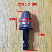 M8 - 0.75 Міні кулачковий патрон з держателем гравер міні дриль