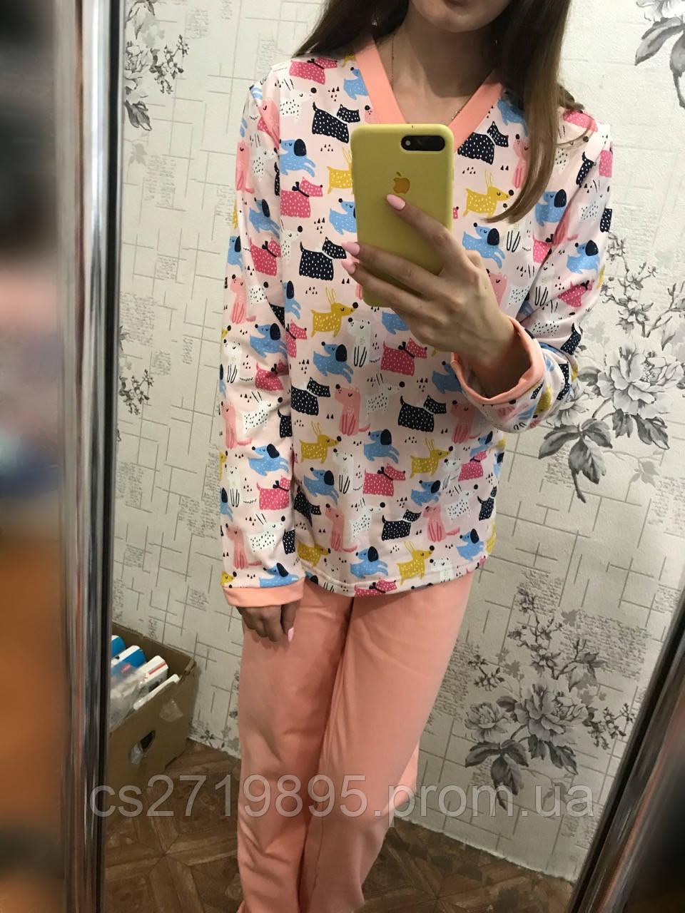 Пижама женская начес НИКОЛЬ 52-56 р 5-163