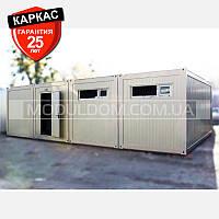 Блок-контейнер (6 х 9.6 м.), раздевалка для спортивной команды.