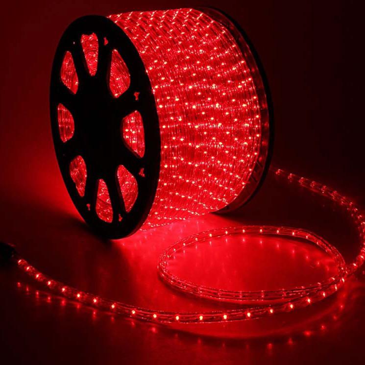 Гирлянда Дюралайт светодиодный шланг, Красный, круглый, 100м.