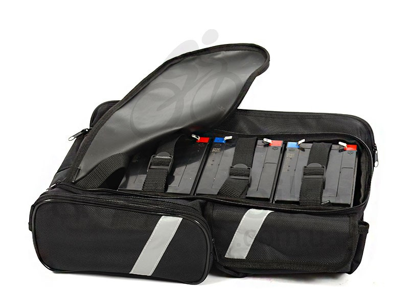 Сумка на багажник электровелосипеда для 4-х аккумуляторов