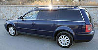 Дефлекторы окон Volkswagen Passat B5 Wagon 1997-2001-2005 ХРОМ Cobra Tuning Ветровики фольксваген пассат б5