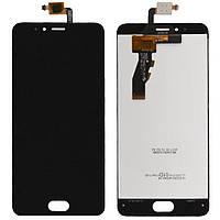 Дисплей модуль экран с сенсором для замены на Meizu M5s LCD черный prc