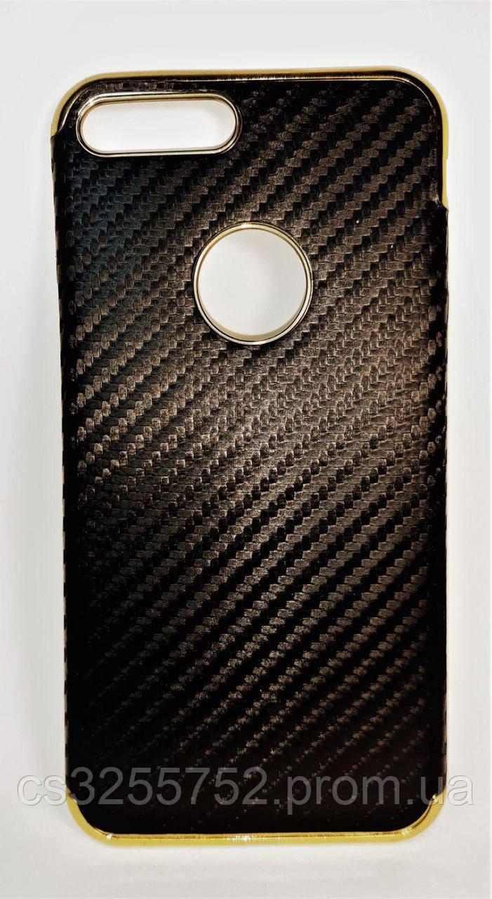 Силикон iPhone 7+ Fashion Carbon черный
