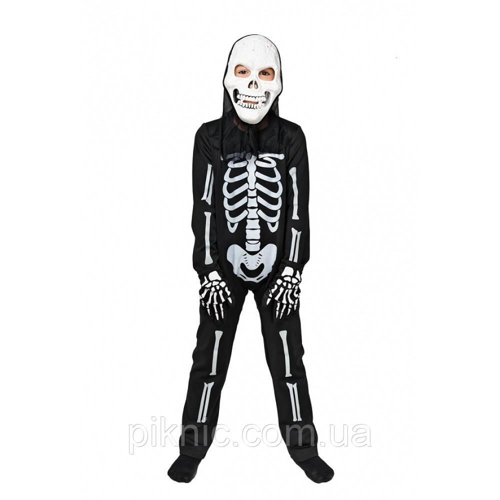 Костюм Скелета 5,6,7,8 лет Детский новогодний карнавальный маскарадный костюм для мальчиков 344