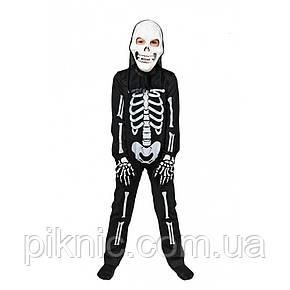 Костюм Скелета 5,6,7,8 лет Детский новогодний карнавальный маскарадный костюм для мальчиков 344, фото 2