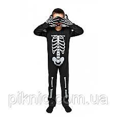 Костюм Скелета 5,6,7,8 лет Детский новогодний карнавальный маскарадный костюм для мальчиков 344, фото 3