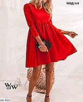 Платье женское расширяется от груди Размер42-44, 46-48. французский трикотаж.Цвет серый, беж, красный,черный