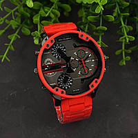 Часы  D.i.e.s.e.l   B.r.a.v.e  S.t.e.e. Механизм: Кварцевый.Цвет покрытия -  красный.