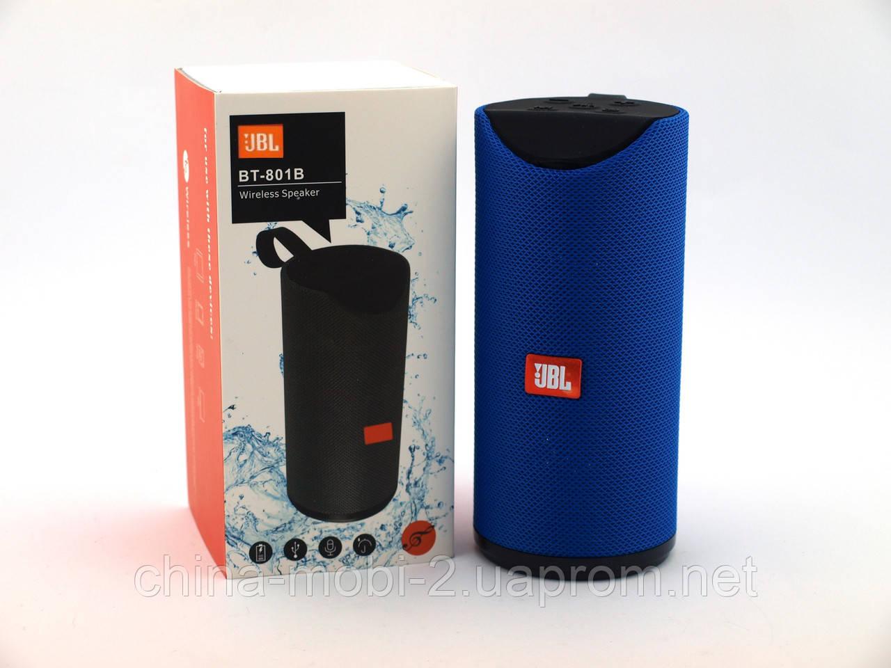 JBL BT801B копия, портативная колонка Bluetooth, синяя